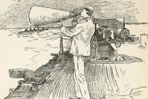 Man Talking on Megaphone
