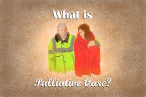 Palliative comes from palliare - or cloak