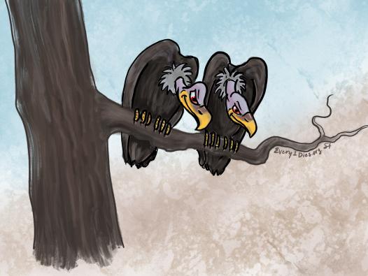Scheming vultures