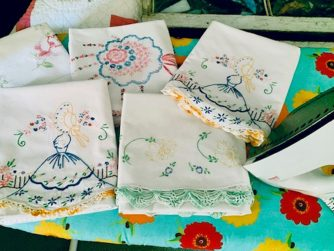 Ironing hand-embroidered linens