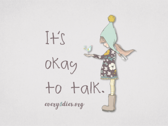 child with sparrow - it's okay to talk