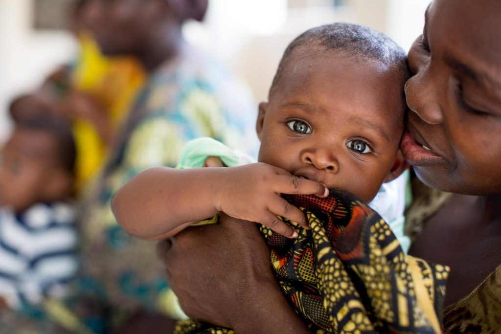 Tanzanian mother with her child.