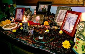 An ofrenda remembering the dead