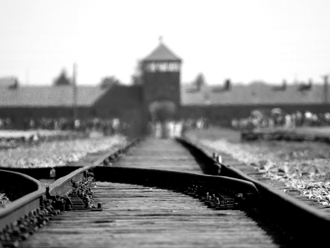 Railway at Auschwitz-Birkenau. Photo by Ron Porter.