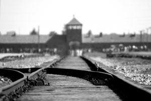 Railway at Auschwitz-Birkenau. Photo by Ron Porter.