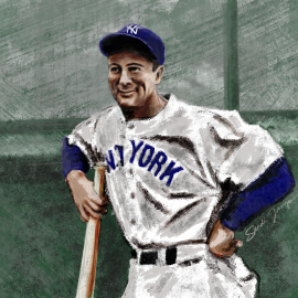 Lou Gehrig, a NY Yankees player later diagnosed with ALS